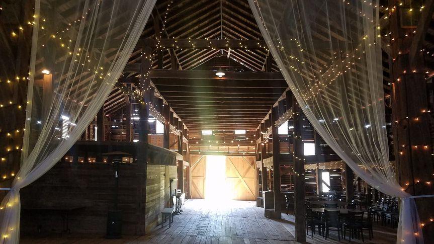 Inside barn venue