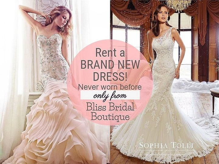 BLISS BRIDAL BOUTIQUE - Rent a brand new wedding dress in Jamaica!