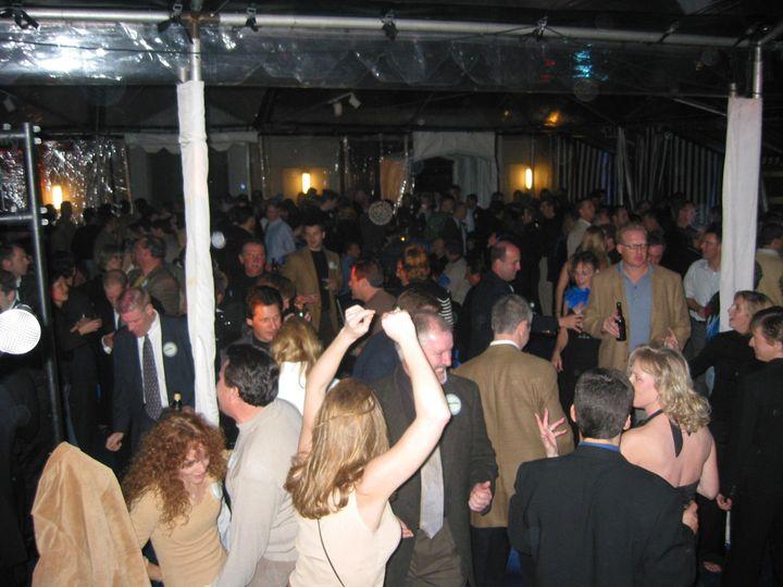 Dancers crowding the floor
