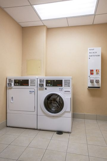 Coin Operated Laundry onsite with Detergent and Dryer Sheets on property