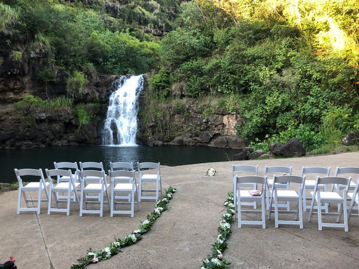Waterfall wedding ceremony