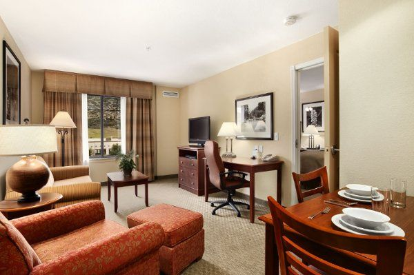 Our largest room, the 2 Bedroom Suite in the Homewood Suites