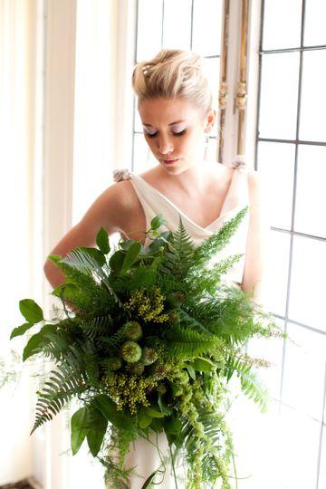 foliage bridal bouquet