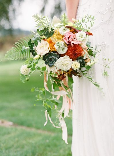 bridal bouquet by vases wild image by omalley phot