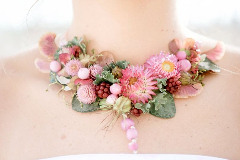 floral necklace by vases wild image by suzanne rot