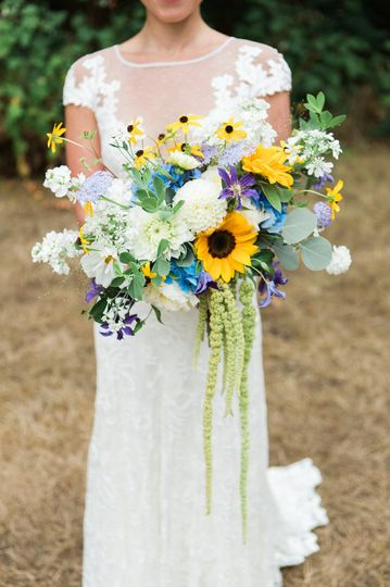 sunflower bridal bouquet by vases wild image by ja