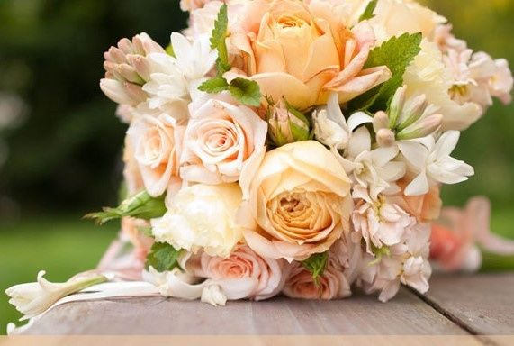 Tmx 1442519877782 Vintage Peach Bride Bouquet 2 Langley, WA wedding florist