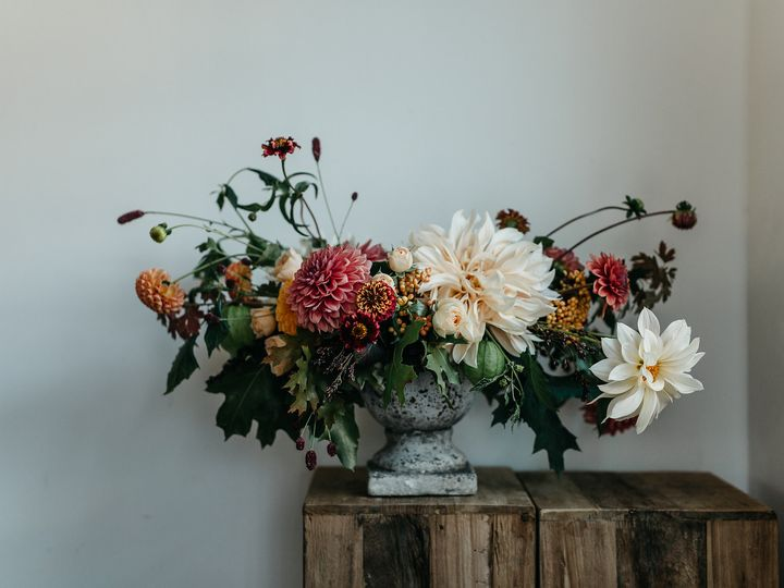 Tmx 1457717950319 Wedding Compote With Cafe Au Lait Dahlia By Vases  Langley, WA wedding florist