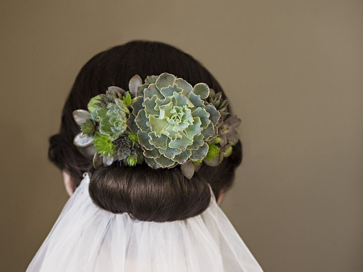 Tmx 1457718021834 Succulent Bridal Headpiece With Veil By Vases Wild Langley, WA wedding florist