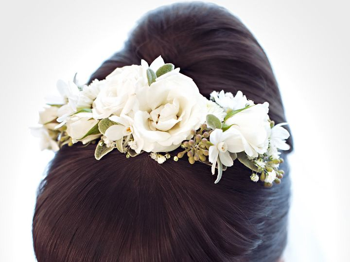 Tmx 1457718029742 White Rose Floral Headband By Vases Wild Image By  Langley, WA wedding florist