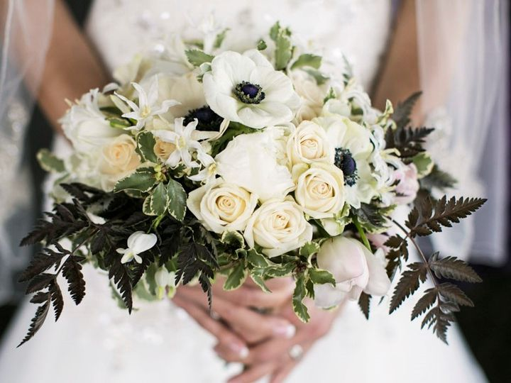 Tmx 1457718244917 Black And White Bridal Bouquet By Vases Wild 2 Langley, WA wedding florist