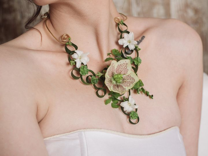 Tmx 1467393539981 Green And White Floral Necklace With By Vases Wild Langley, WA wedding florist