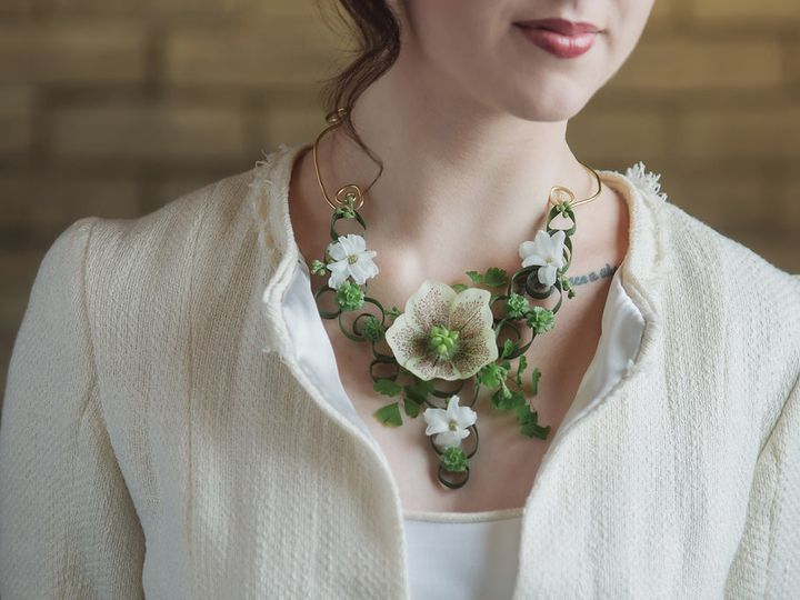 Tmx 1471937898962 Botanical Necklace With Hellebore By Vases Wild Im Langley, WA wedding florist