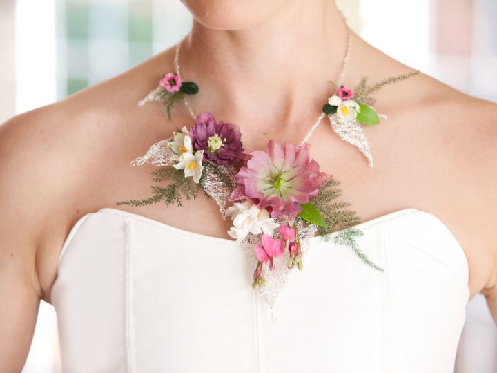 Tmx 1471938008700 Fresh Floral Necklace By Vases Wild Image By Kim N Langley, WA wedding florist