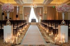 Hilton wedding with candles  * We offer candle rental