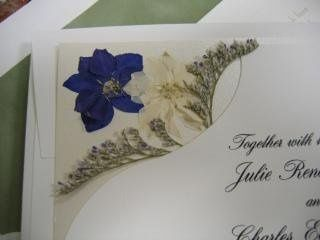 Pressed flower design