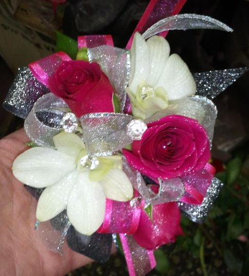 Sparkling Night Wrist Corsage