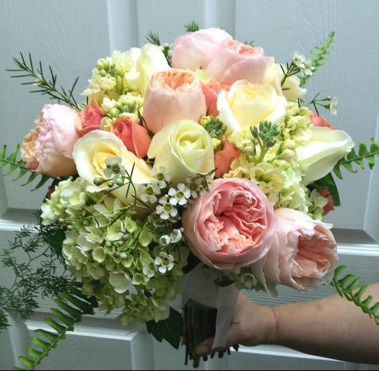 Peaches & Cream Bridal Bouquet