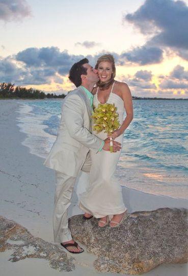 Treasure Cay, Abacos, Bahamas beach wedding