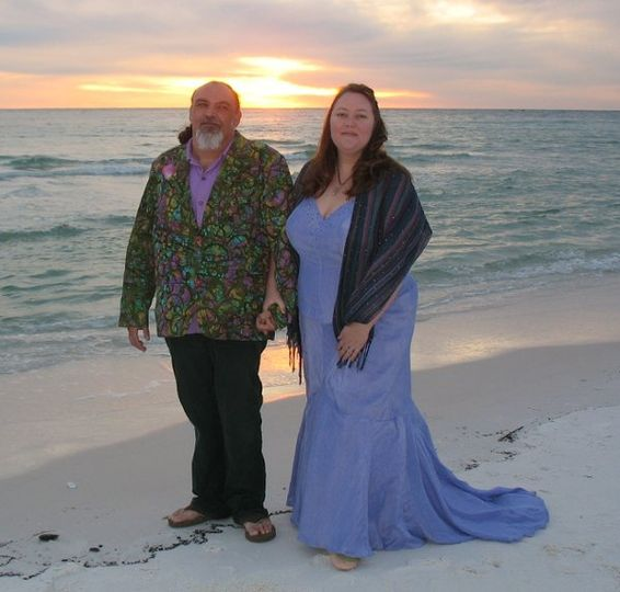 Mr & Mrs at sunset