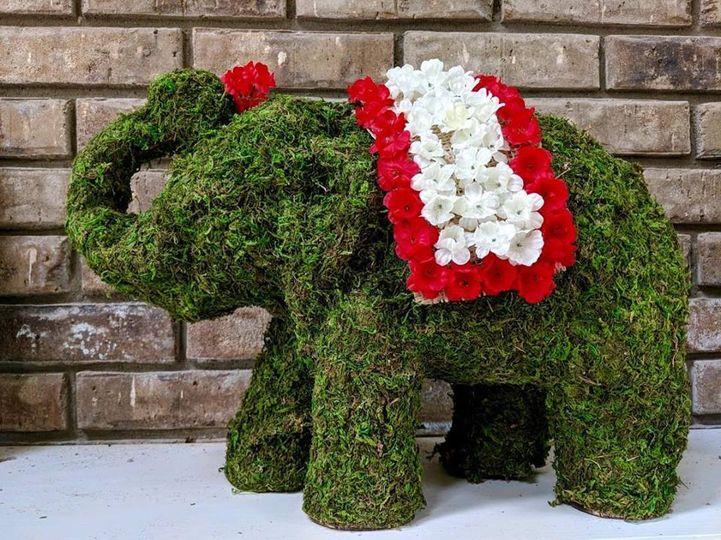 Floral elephant decor