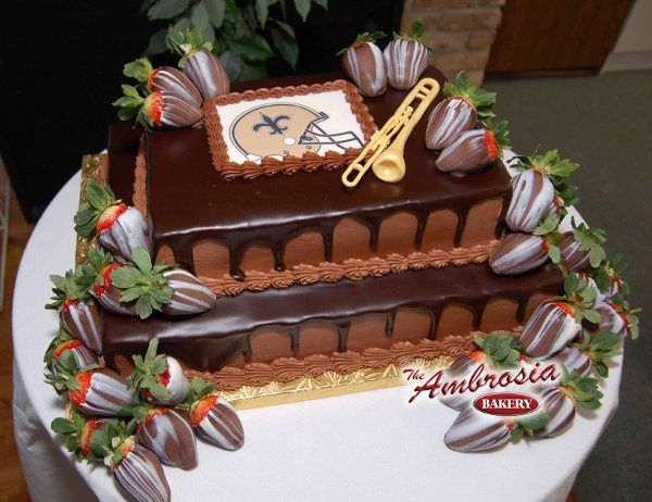 This is a traditional Grooms Cake that is very popular.  A chocolate cake with a chocolate fudge...