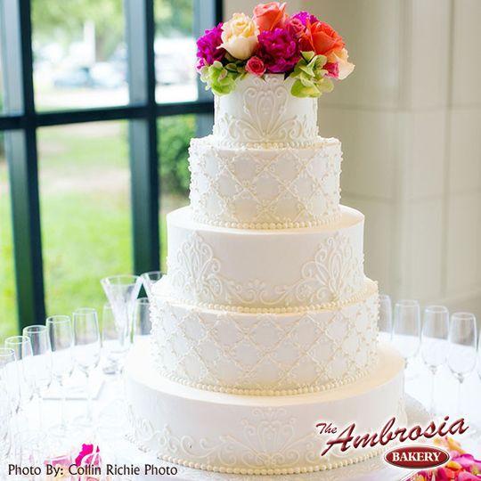 ambrosia wedding cak