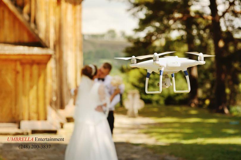 Aerial footage for wedding
