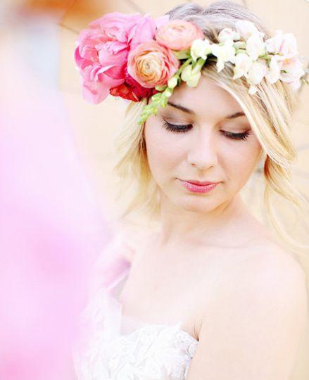 Pink makeup look