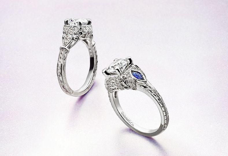 4 engagement rings antique