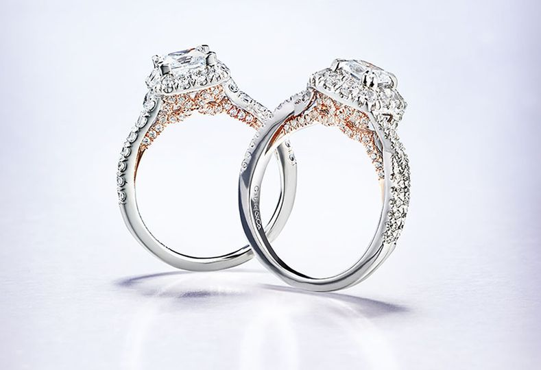 6 rose and white gold engagement rings