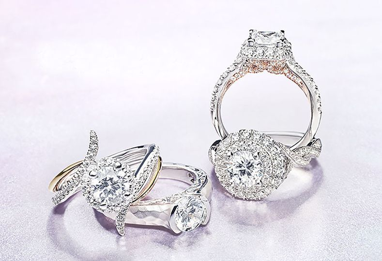 19 double halo engagement rings