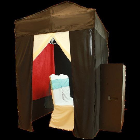Our Memorable Event Entertainment Photo Booth is a 5x5 booth with a black curtain enclosure. We can...