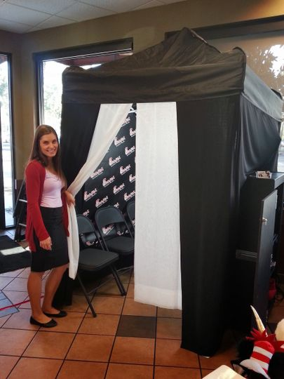 our professional photo booth at a chickfila corpor