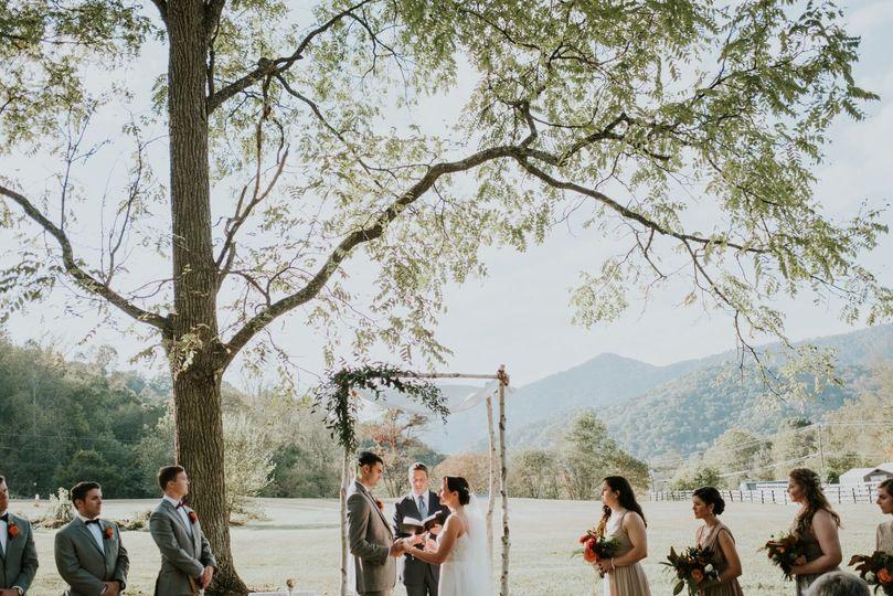 Outdoor Mountain Ceremony