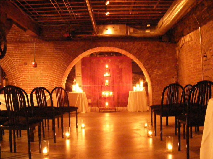 Very intimate ceremony in our Malt House Cellar space