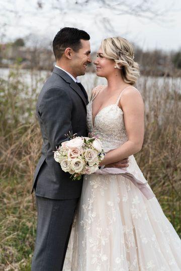 Wedding dress by Nicole Spose