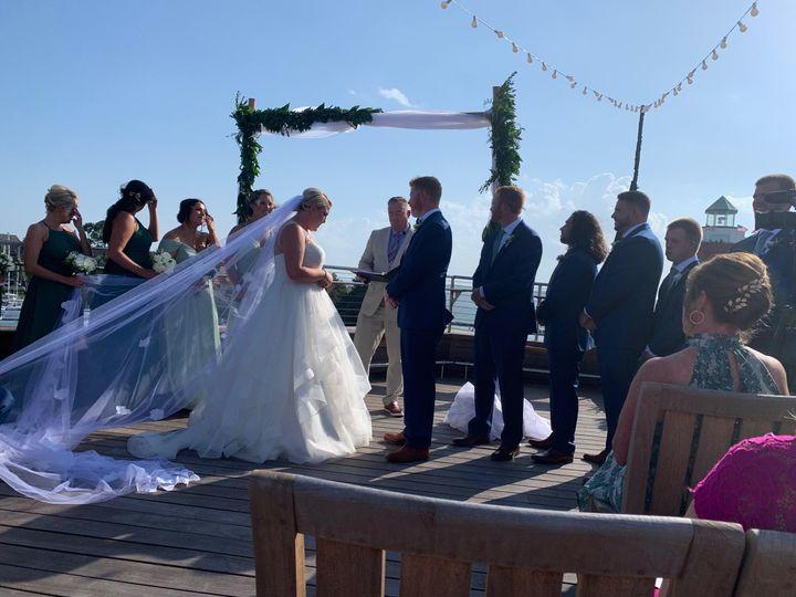 Beautiful blue sky wedding
