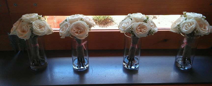 White rose in a clear vase
