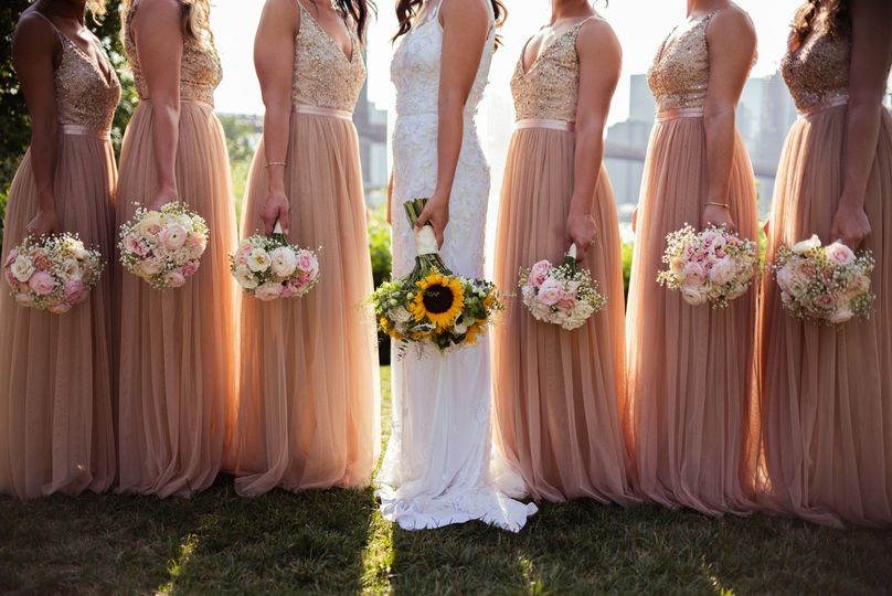 Bride with members of the wedding party - Mia Isabella Photography