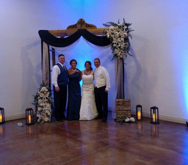 Distinctive wedding arch