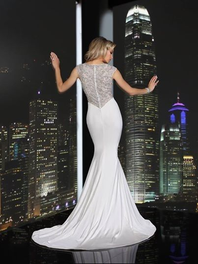 Tmx 1394078150889 Simone Carvalli Beaded Back Wedding Gown Fit And F Andover wedding dress