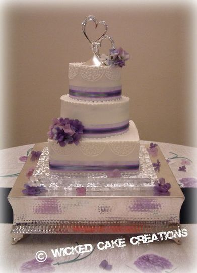 Wicked Cake Creations Wedding Cake Dayton OH WeddingWire - Wicked Wedding Cakes