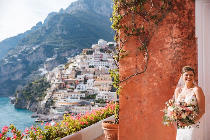 Romantic Positano wedding