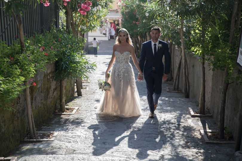 Couple strolling in Ravello