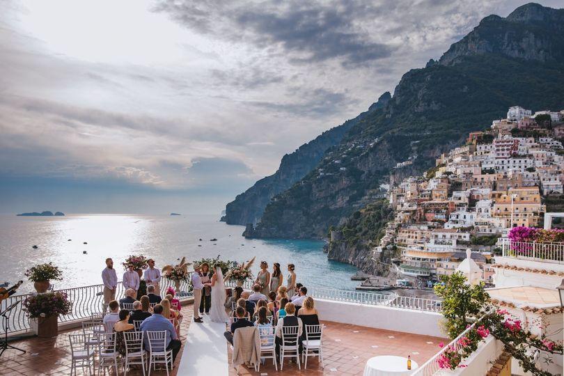 Positano wedding ceremony