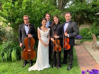 Happy Couple and Musicians