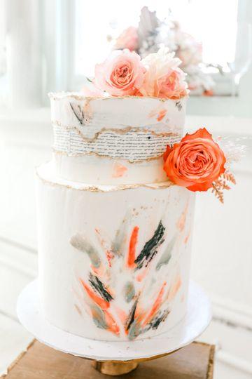 Artistic cake design