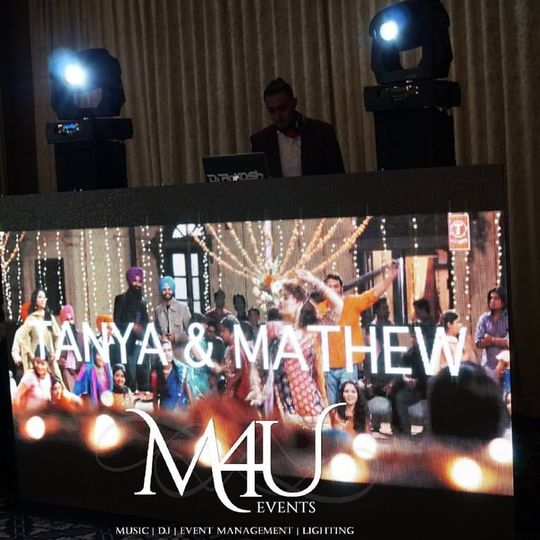 video wall dj mixing