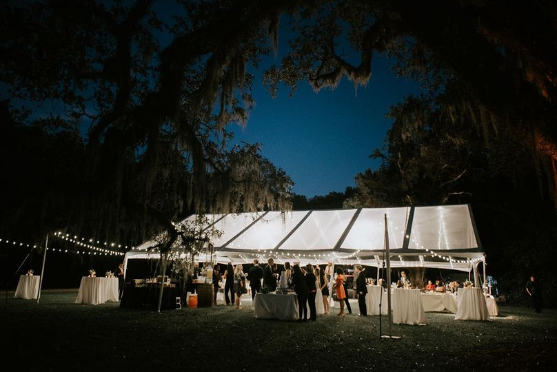 Clear Top Tent + Bistro Light